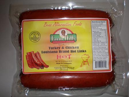 Turkey and Chicken Louisiana Hot Links
